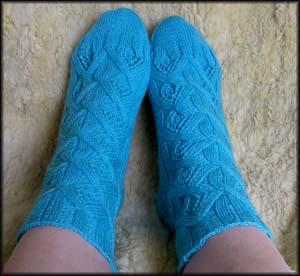 türkise gemusterte Socken