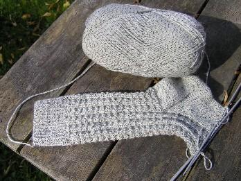 Socken meliert gemustert