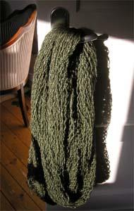 Wolle an der Türklinke
