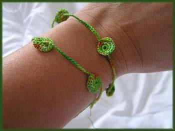 grüne Häkelei