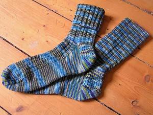 blaugrüne Socken
