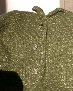 grugrüne Strickjacke
