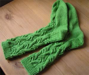 grüne Lochmustersocken
