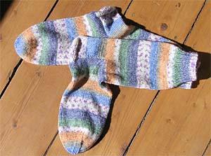 pastell gemusterte Socken
