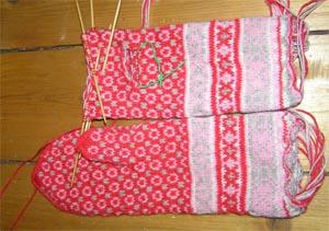 Handschuhe mit Mustern
