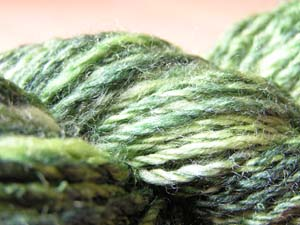 grünes Garn