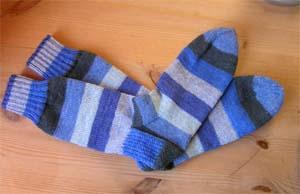 blaugestreifte Socken
