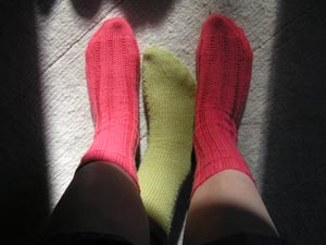 pinkfarbene Socken