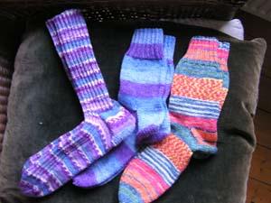 drei Paar Socken