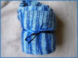 blaugemusterte Socken