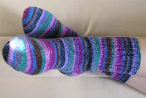 lilabunte Socken