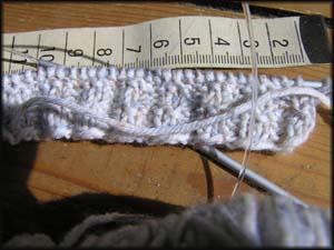 Strickstück helle Wolle