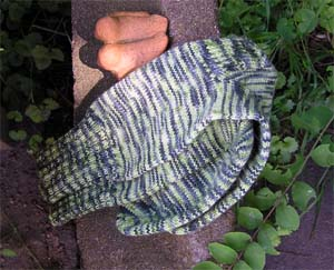 grüngemusterte Socken