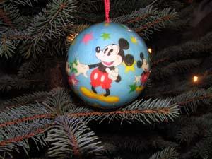 Micky Maus Weihnachtskugel