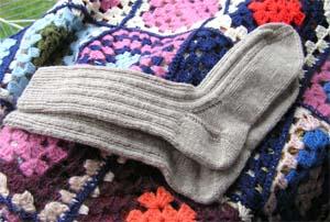 beige Socken